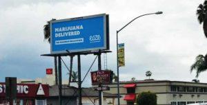 Eaze Billboard in California