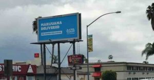 Cannabis advertising - Ad for Eaze in San Diego