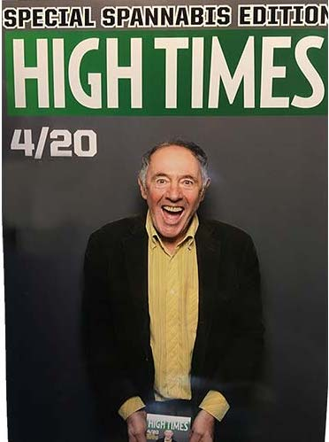Nick Rosen posing on the High Times cover art